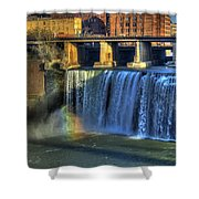 High Falls Rainbow Shower Curtain