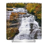 High Falls Shower Curtain by Scott Norris