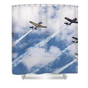 High Flying Five Shower Curtain