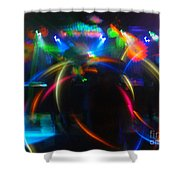 High Frequency Glow Shower Curtain