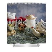 High Fructose Farming Shower Curtain