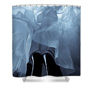 High Heels And Petticoats Shower Curtain