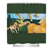 High Horse Shower Curtain
