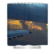 High In The Clouds II Shower Curtain