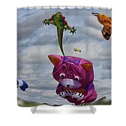 High In The Sky Shower Curtain