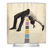 High Jump Shower Curtain
