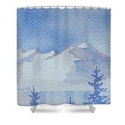 High Lake Shower Curtain