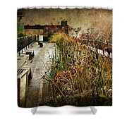 High Line Park In The Rain New York Shower Curtain