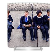 High Lunch Shower Curtain
