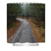 High Mountain Road Shower Curtain