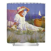 High On A Dune Shower Curtain