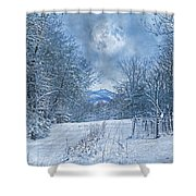 High Peak Mountain Snow Shower Curtain