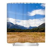 High Peaks Of Eglinton Valley In Fjordland Np Nz Shower Curtain