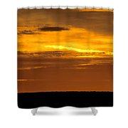 High Plains Sundown Shower Curtain