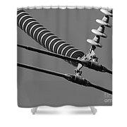 High Power Line - 4 Shower Curtain