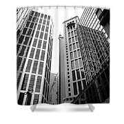 High Rise Building In The Financial Center Of Hong Kong Shower Curtain