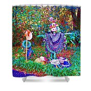 High Satch Scarecrow In A Hat Shower Curtain