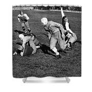 High School Football, 1941 Shower Curtain