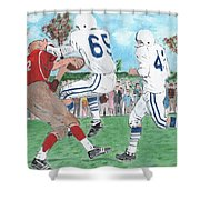 High School Football Shower Curtain