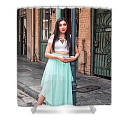 High School Senior Portrait French Quarter New Orleans Shower Curtain