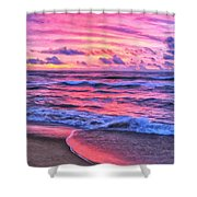 High Tide At San Onofre Shower Curtain