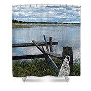 High Tide Lieutenant Island Marsh Shower Curtain