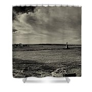 High Tide Of The Confederacy Black And White Shower Curtain