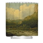 High Tor, Matlock, 1811 Shower Curtain