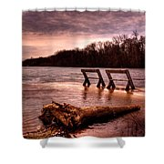 High Water On The Wolf River Shower Curtain