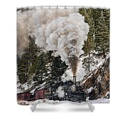 Highball Through Cascade Canyon Shower Curtain
