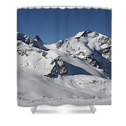 Highest Peak St Mortiz Shower Curtain