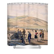 Highland Brigade Camp, Plate From The Shower Curtain
