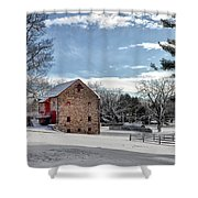 Highland Farms In The Snow Shower Curtain