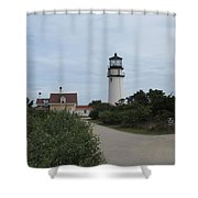 Highland Light Aka Cape Cod Light Shower Curtain