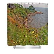 Highlands Coastline In Cape Breton Highlands Np-ns Shower Curtain