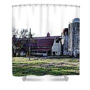 Highway 11 Barn Shower Curtain