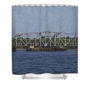 Highway 41 Swing Bridge Over The Wando River Shower Curtain