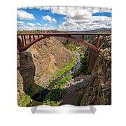 Highway 97 Bridge Shower Curtain