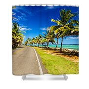 Highway And Coast Shower Curtain