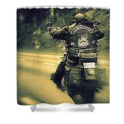 Highway Flyer Shower Curtain