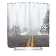 Highway Into Heaven Shower Curtain