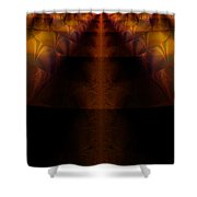 Highway Less Traveled Shower Curtain