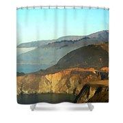 Highway One Bixby Bridge Watercolor Shower Curtain
