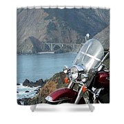 Highway One Harley Shower Curtain