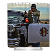 Highway Patrol 6 Shower Curtain by Tommy Anderson