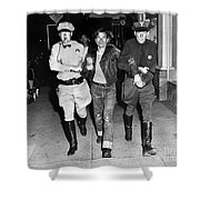 Highway Patrolmen And Police Officer Hollister July 7 1947 Shower Curtain