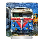 Highway Post Office U.s. Mail Shower Curtain
