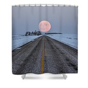 Highway To The Moon Shower Curtain