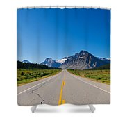 Highway To The Mountains Shower Curtain