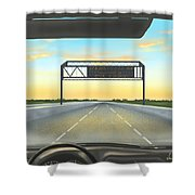 Highway Shower Curtain